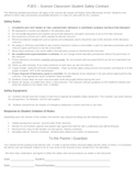 Elementary Lab Science Safety Contract