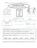 Elementary Landform Test