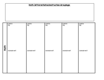 Elementary Lesson Plan Template