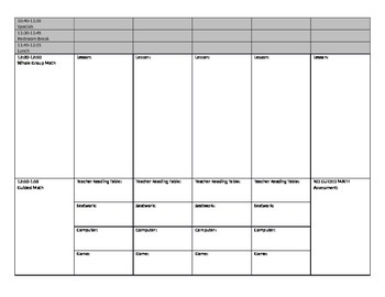 Elementary Lesson Plan Weekly Daily Template Word