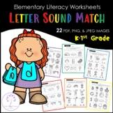 Elementary Letter Sound Match Worksheets