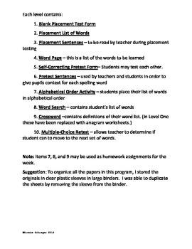 Elementary Level Differentiated Spelling Program - Full Kit