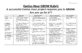Elementary Level GROW Rubric - Genius Hour, Project Based Learning