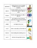 Elementary Level Science Vocabulary Sort w/ Picture and No