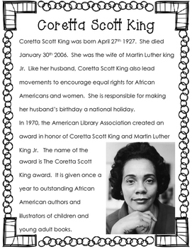 Black History Month Elementary Librarian's Print and Go African American Authors