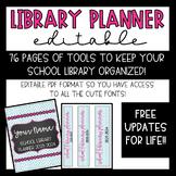 Elementary Library Media Center Binder {EDITABLE} 2019-2020 FREE UPDATES
