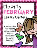 Elementary Library Centers Hearty February Themed