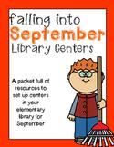 Elementary Library Centers September Theme