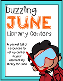 Elementary Library Centers Sizzling June themed Centers