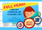 Library Curriculum Badges Outline EDITABLE