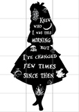 """Elementary Library Display Silhouette Cut out (6*A4) (35.07"""" * 49.62"""") Alice"""