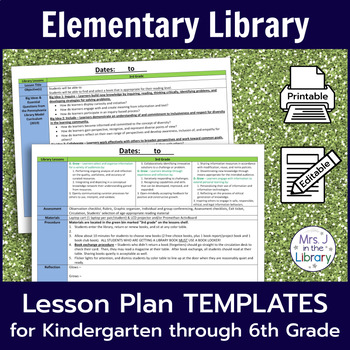 Elementary Library Lesson Plan Templates With Common Core Standards - Lesson plan template using common core standards