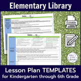 Elementary Library Lesson Plan Templates (with Common Core Standards)