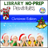 Library Skills No Prep Printables - Christmas