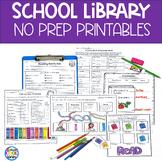 Elementary Library No Prep Printables