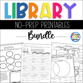 Library No Prep Printables - Bundle (Library Skills)