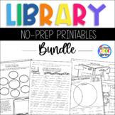 Library Skills No Prep Printables - Bundle