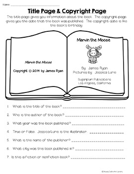 Elementary Library No Prep Printables - Winter Theme