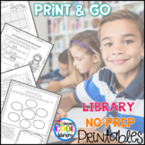 Library No Prep Printables