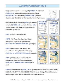 Make a Killer Whale Map for Puget Sound ★ FREEBIE ★
