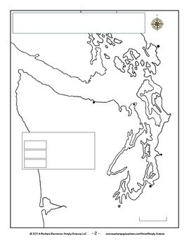 Make a Killer Whale Map for Puget Sound ★ FREEBIE ★