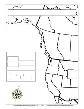 Make a Killer Whale Map for the US West Coast ★ FREEBIE ★