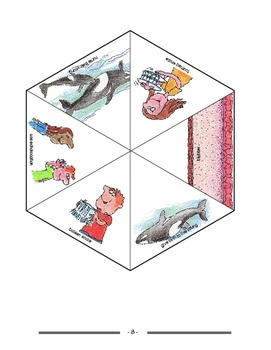 Elementary Life Science: Review Spinner for Whales