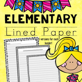 Elementary Lined Paper