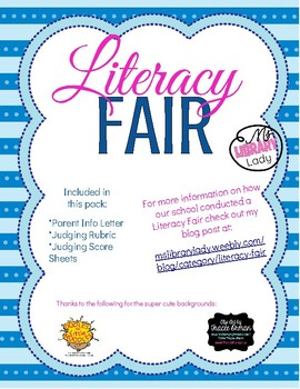 Elementary Literacy Fair Pack