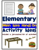 Elementary Main Idea Hands-On Activity Ideas