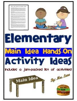 Elementary Main Idea Hands-On Activity Ideas