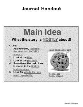 Elementary Main Idea Journal Handout