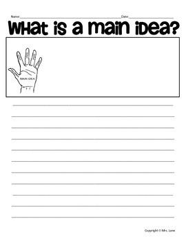 Elementary Main Idea Lesson Plan