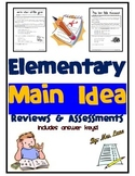 Elementary Main Idea Reviews and Assessments