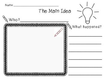 Elementary Main Idea Worksheet