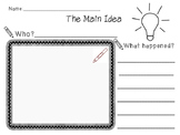 Elementary Main Idea Worksheet