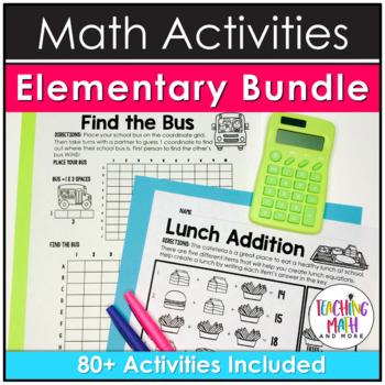 Elementary Math Activities BUNDLE