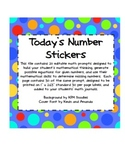 Elementary Math Journal Editable Stickers & Task Cards