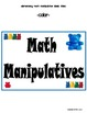 Elementary Math Manipulative Labels (With Strategies and A