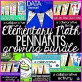 Elementary Math Pennants Bundle