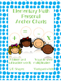 Elementary Math Personal Anchor Charts