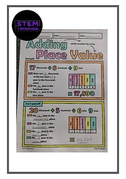 Elementary Math Place Value Doodle Notes and Task Cards Bundle