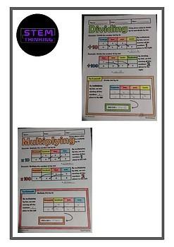 Place Value Expanded Form Standard Form Notes Task Cards BUNDLE