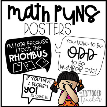 Math Puns Posters Teaching Resources Teachers Pay Teachers