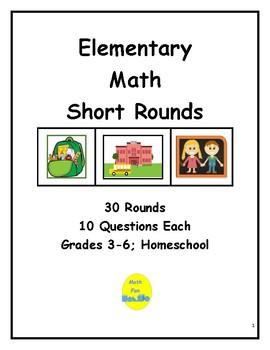 Elementary Math Short Rounds