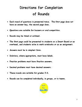Elementary Math Short Rounds