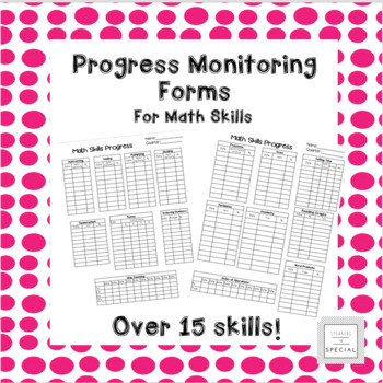 Elementary Math Skills Progress Monitoring Forms