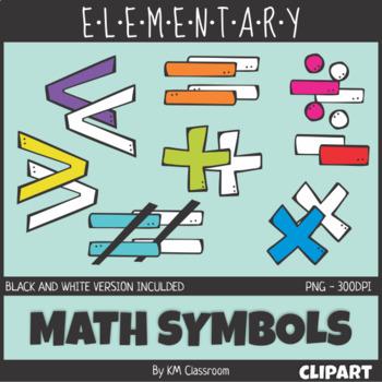 Elementary Math Symbols Clip Art