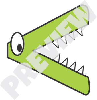 Elementary Math Symbols Clip Art Crocodile Theme