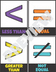 Elementary Math Symbols Posters Flash Cards Vocabulary Chart